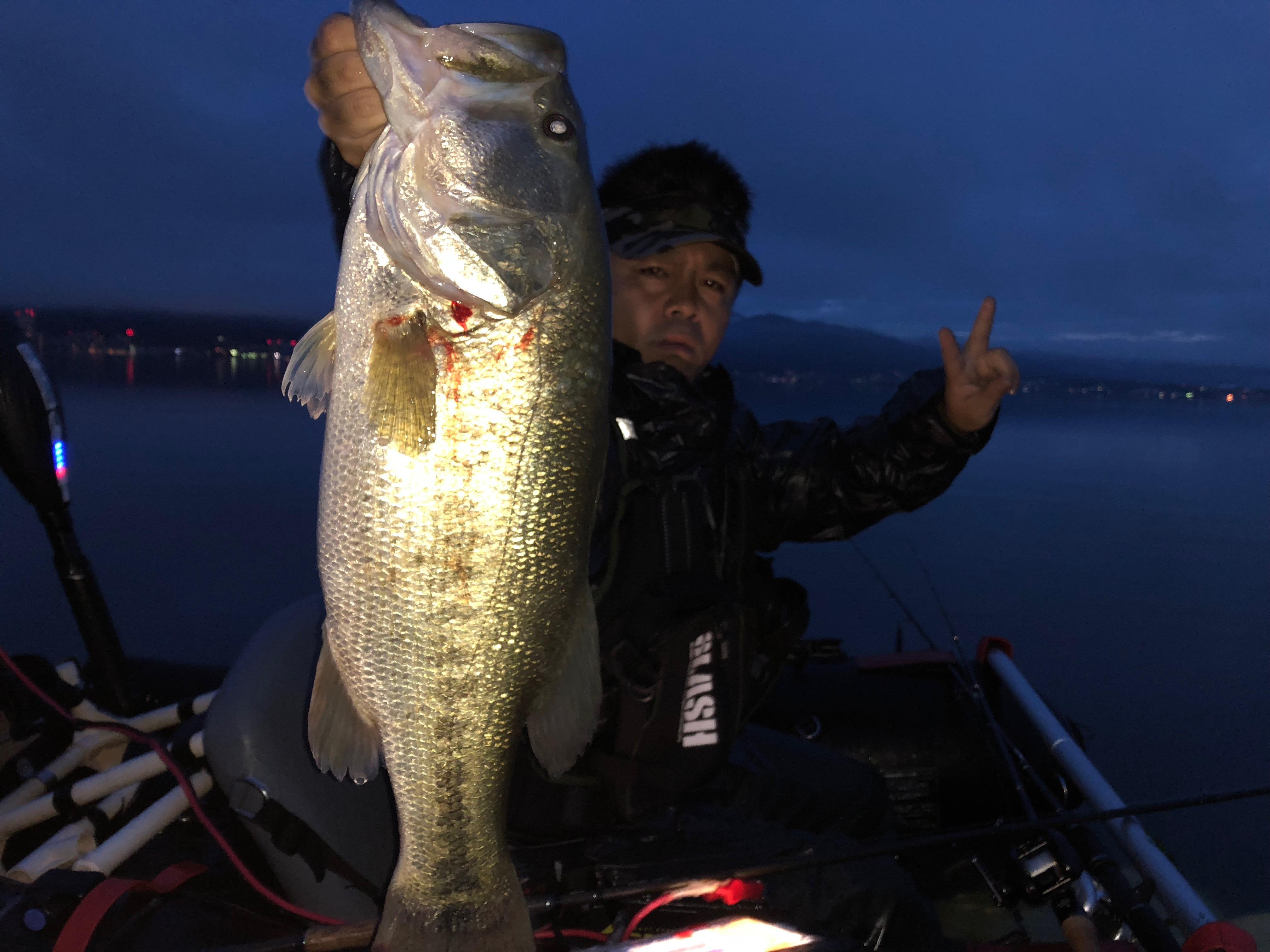 琵琶湖南湖クランクベイトでデカバスを釣った画像
