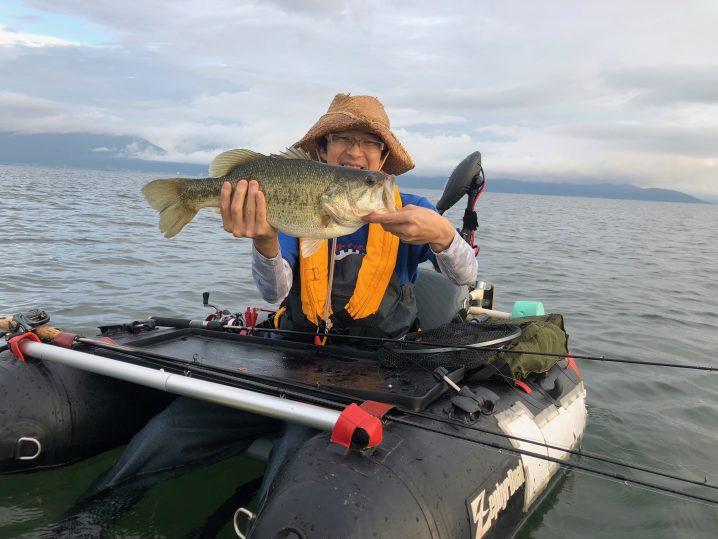 琵琶湖アノストで釣ったデカバス
