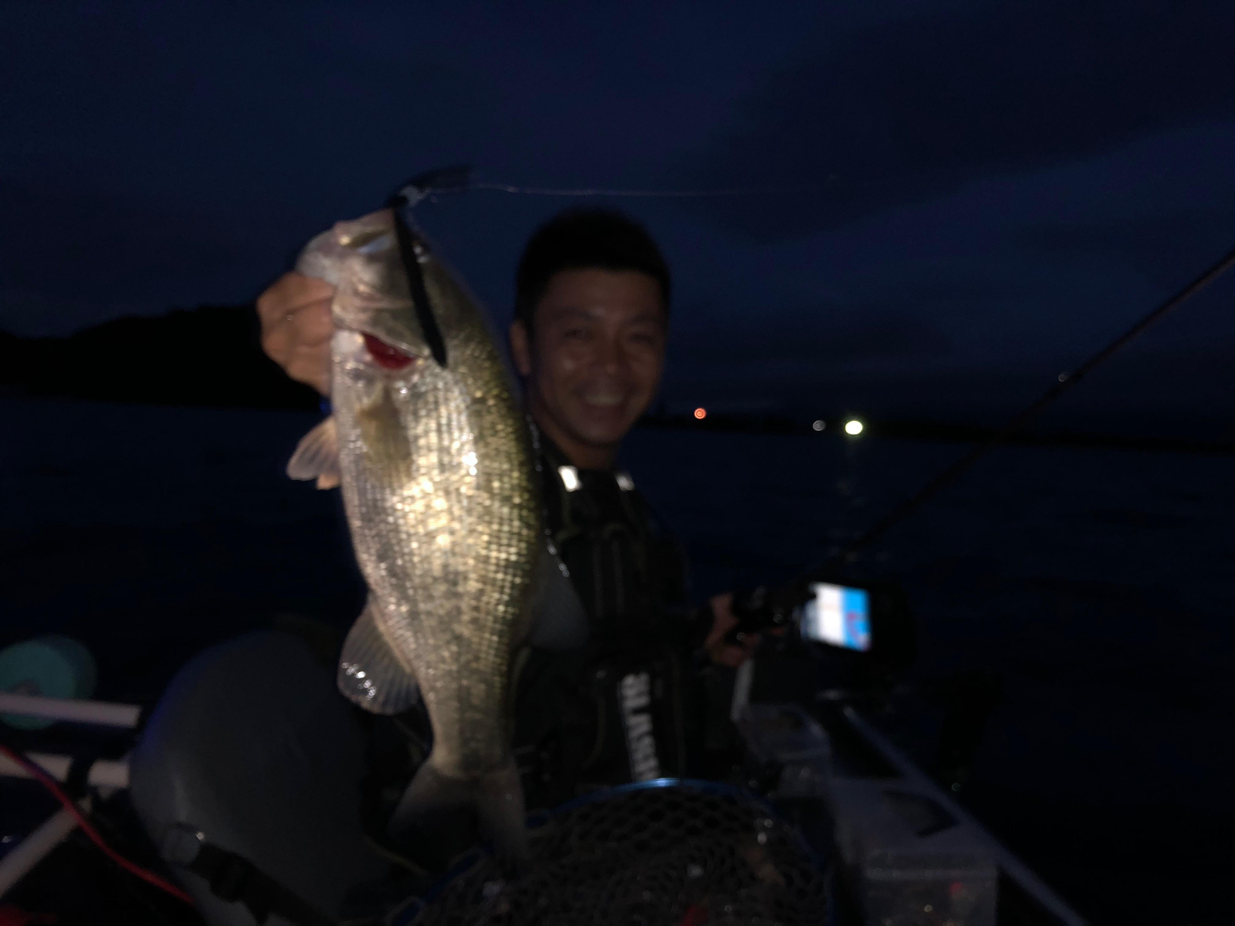 琵琶湖北湖でゲストさんにアノストネコで釣ってもらった40UP