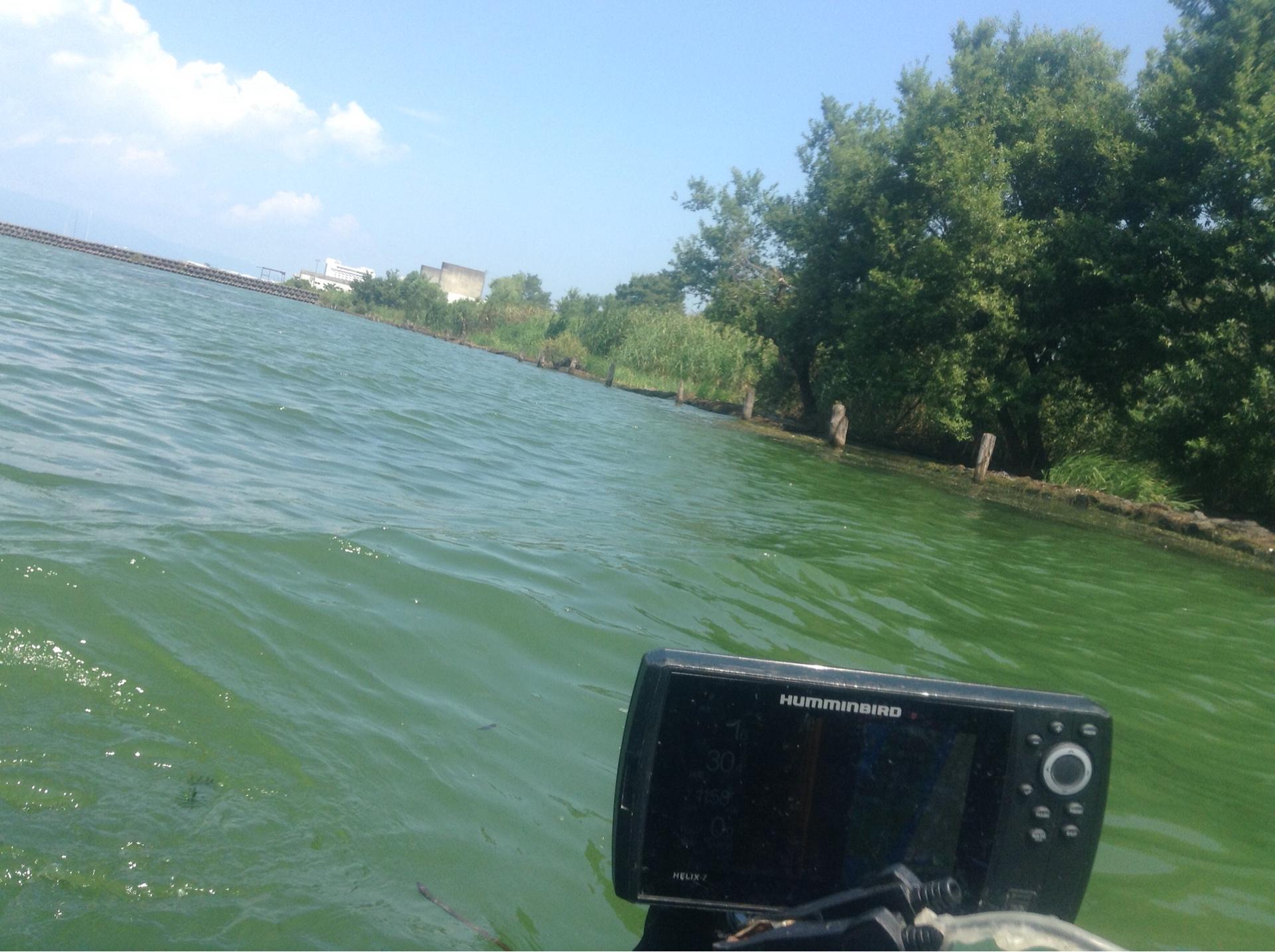 琵琶湖木の浜3号水路南のブレイクラインが狙える場所の画像