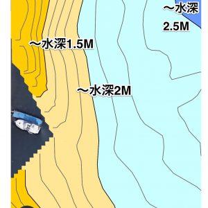琵琶湖井筒ワンド水中マップ画像