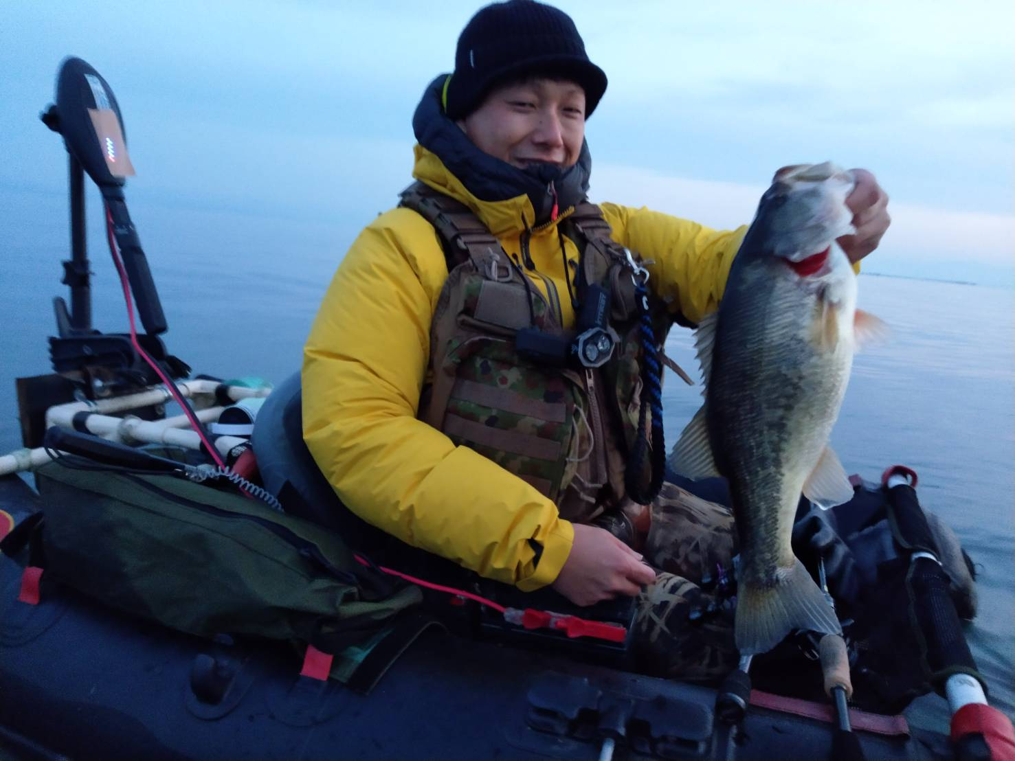 メタルバイブ北湖で釣れたデカバス