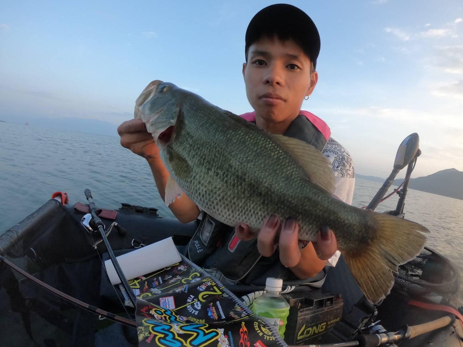 琵琶湖ガイド明け方時釣果2